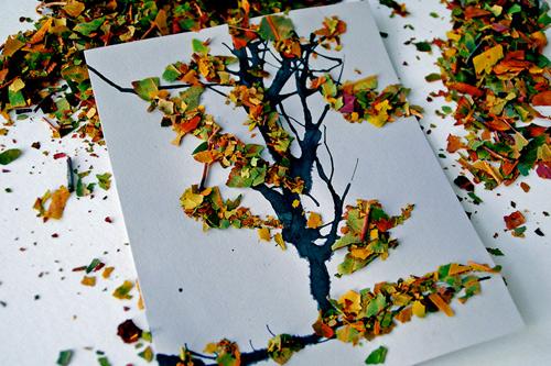 Поделка из природного материала на тему осень своими руками